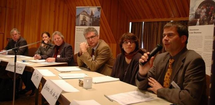 Podium auf der Generalversammlung in Rantum, Sylt