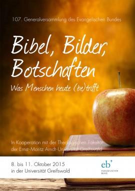 Plakat das einen Apfel auf einem Buch zeigt