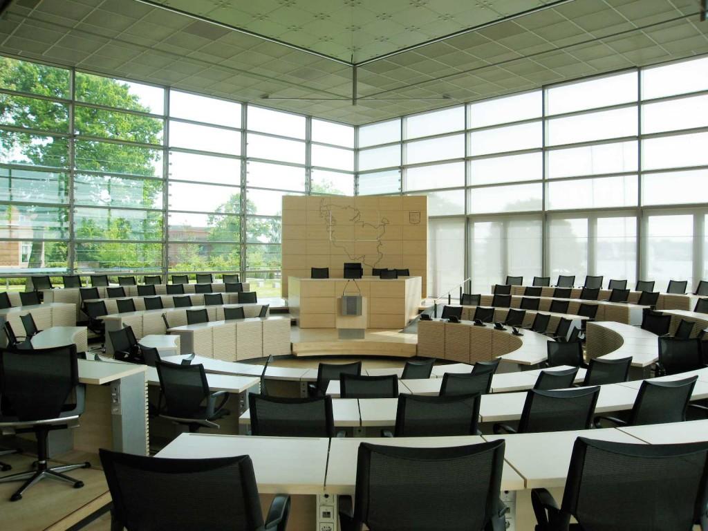 Leeres Parlament Schleswig-Holstein