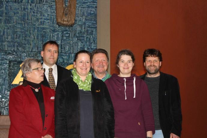 von links: Christa Walz, Ulrich Noetzel, Alexandra Rehfeld, Frank Lorenz, Tina Meyn, Eric Janssen