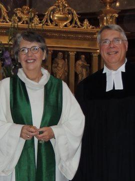 Dompredigerin Dr. Petra Zimmermann mit Präsident Dr. h.c. Christian Schad. Foto Sascha Sebastian Haenel